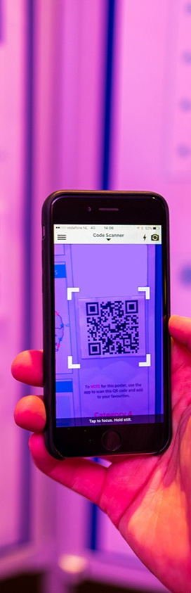 event digital QR code scanning through mobile event app