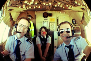 British Airways staff took part in a Guinness Book of Records attempt for Comic Relief this week