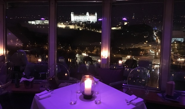 view_from_UFO_restaurant_Bratislava_at_night