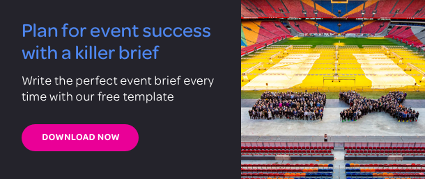 Download our FREE event brief template